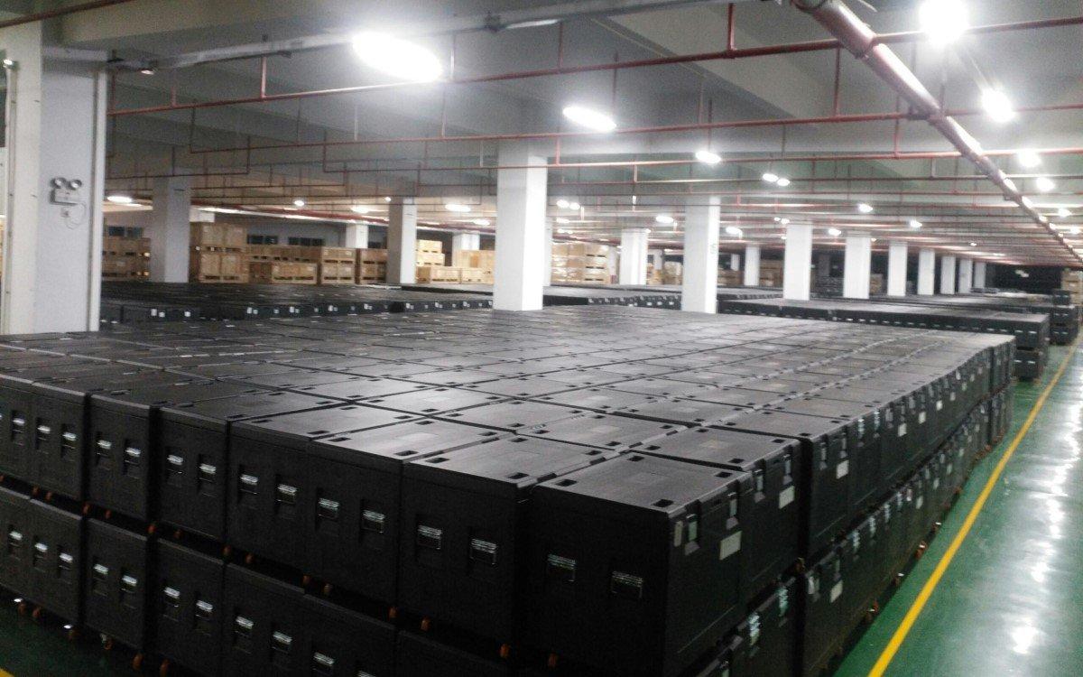 Rund 5.000 Quadratmeter LED hat Absen lieferfertig auf Lager, weitere 27.000 Quadratmeter sind in Produktion (Foto: Absen)