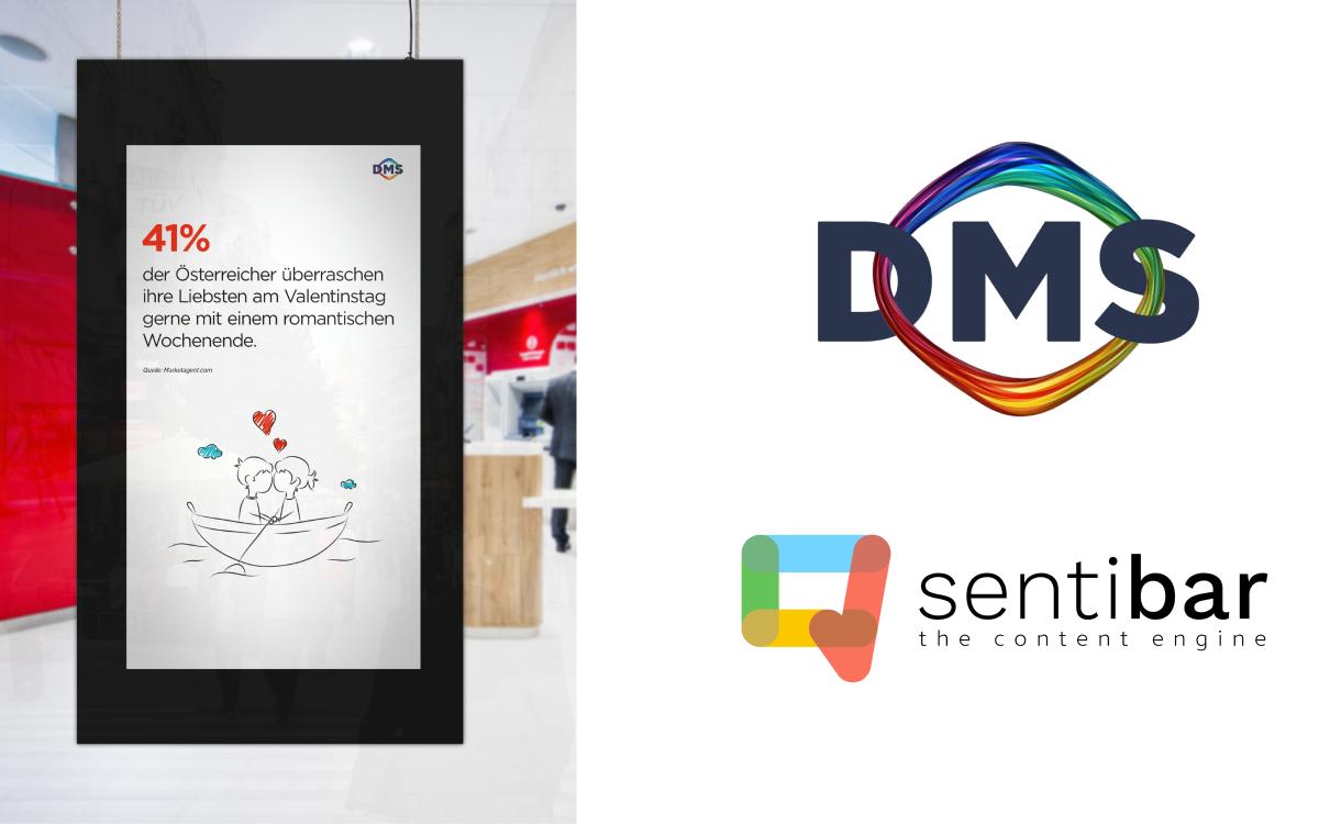 Content-Produzent sentibar und die Digitale Mediensysteme GmbH (DMS) verkünden ihre Kooperation (Foto: DMS)