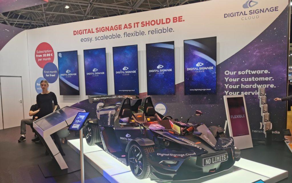 ISE 2020 Digital Signage Cloud am Stand von heinekingmedia GmbH
