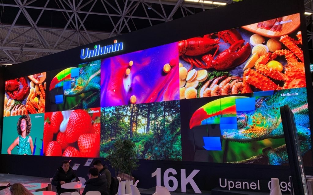 Unilumin - Chinas größter LED-Hersteller auf der ISE 8Foto: invidis)