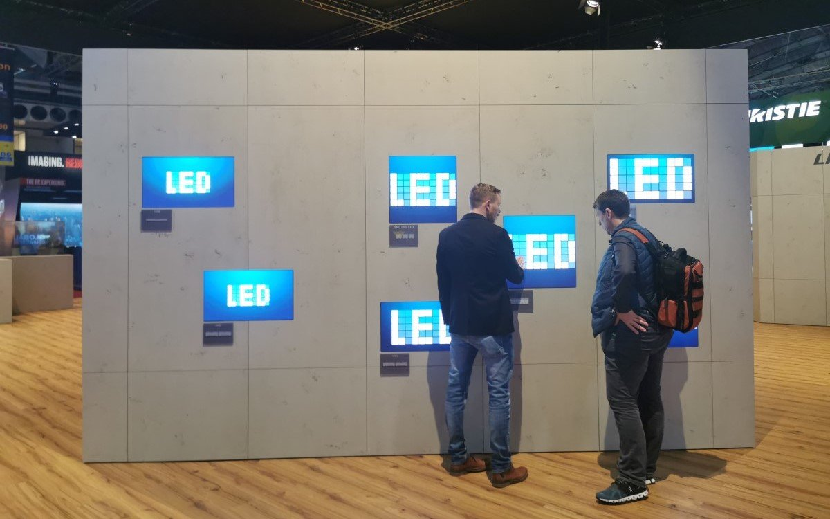 Lang LED tech Comparison - Impressionen ISE 2020 (Foto: invidis)