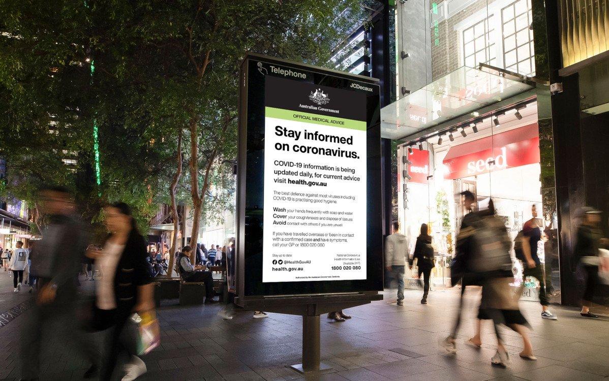 JC Decaux Coronavirus Public Service in Australien (Foto: JC Decaux)