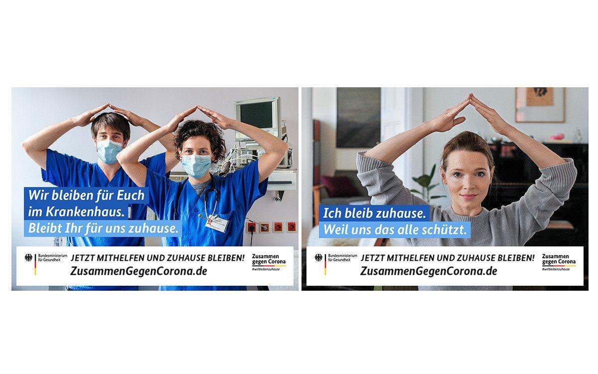 Corona-Kooperation von Ströer und dem Bundesgesundheitsministerium (Fotos: BMG)