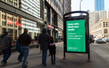 JC Decaux Coronavirus Public Service in Chicago (Foto: JC Decaux)