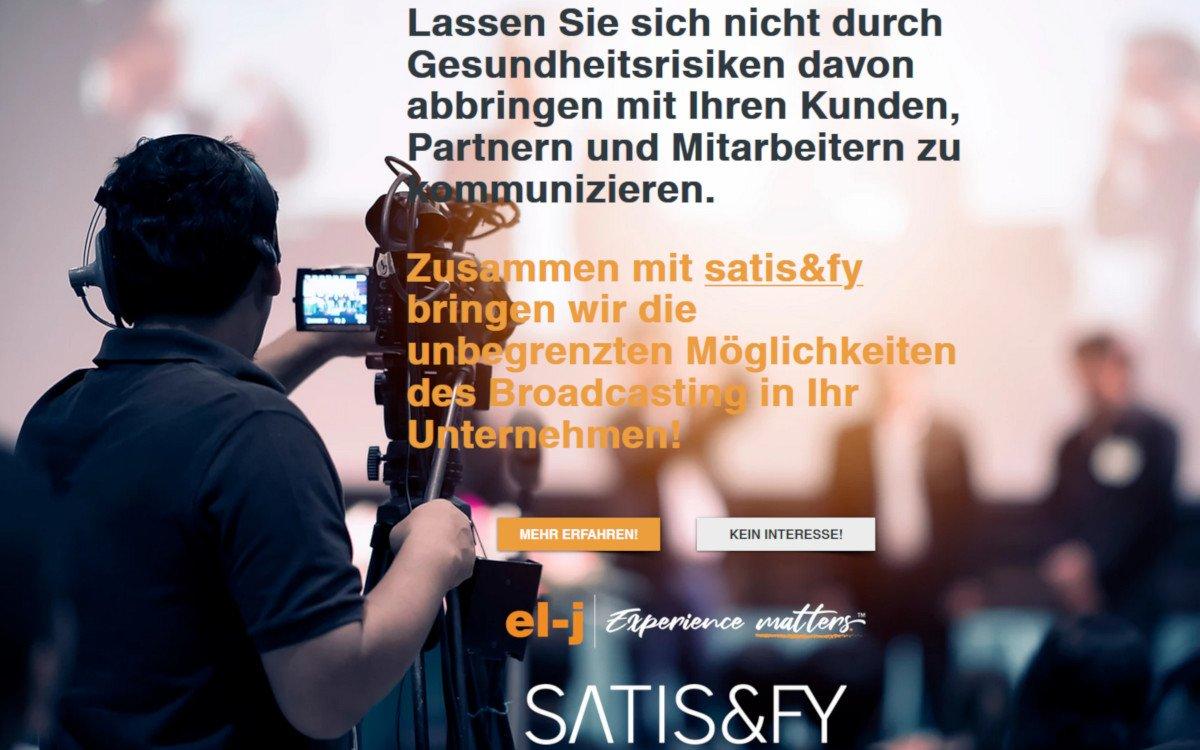 Satisfy und elj präsentieren CBN-Plattform (Foto: elj)