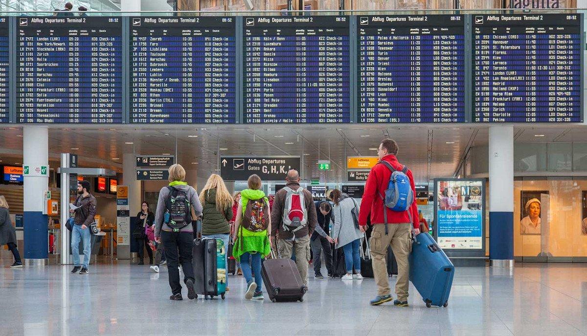 FIDS am Flughafen München in besseren Zeiten (Foto: FMG)