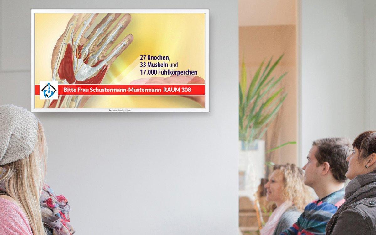 Frischer Corona Content und Patientenaufrufsystem zur Zeit kostenlos (Foto: TV Wartezimmer)