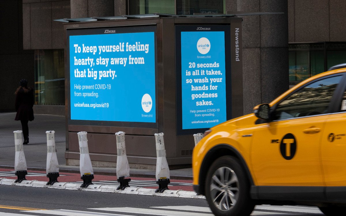 JC Decaux Coronavirus Public Service in New York City (Foto: JC Decaux)