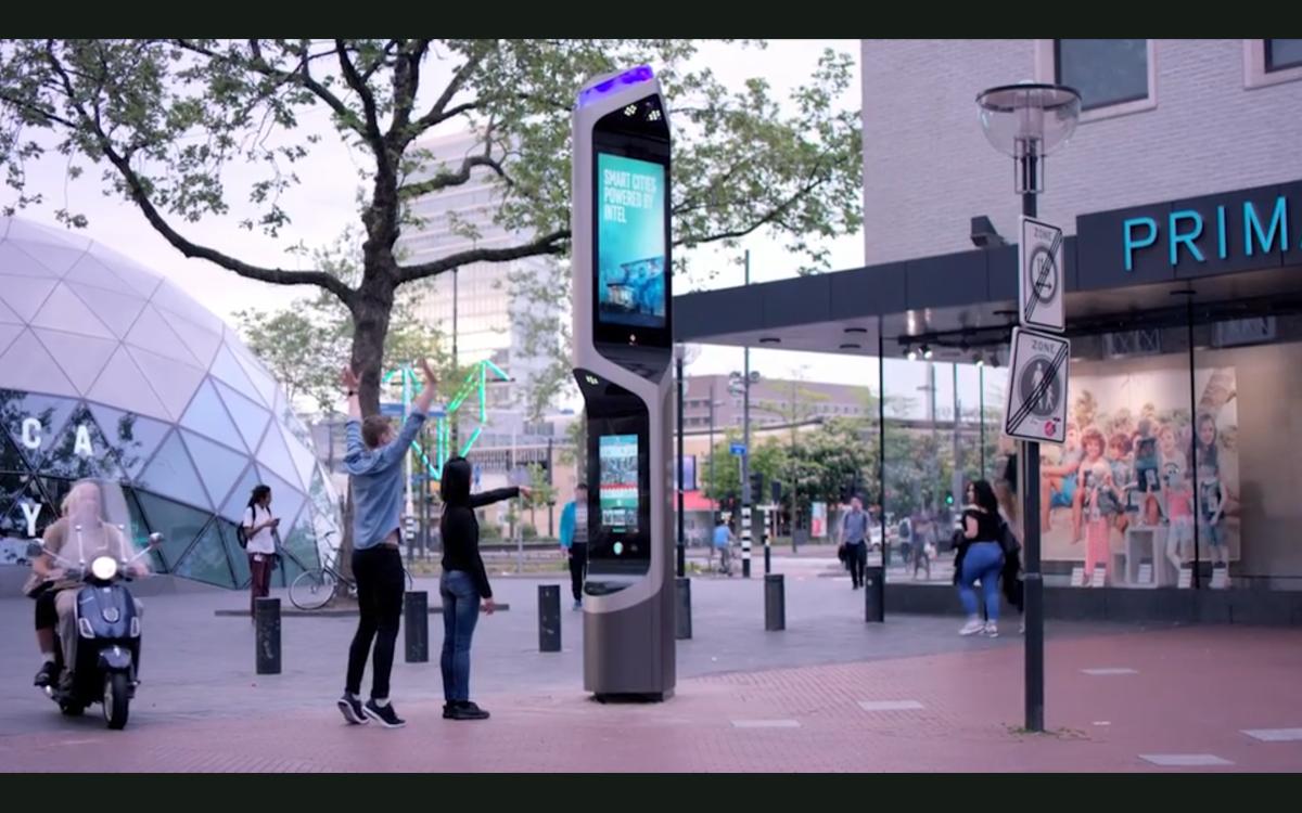 Die CityBeacons des gleichnamigen Entwicklers bieten smarte Funktionen und Intels IoT-Technologie, um Städte in eine smarte Zukunft zu führen (Foto: Screenshot Intel)