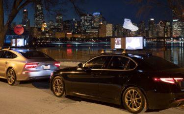 Puma warb für das Debüt seine neuen Sky Dreamer mit 3D-Hologrammen auf den Autodächern diverser Ride Sharing-Anbieter in Chicago (Foto: Havas Media)