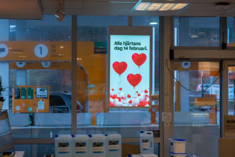Neue Digital Signage bei Preem-Tankstellen in Schweden (Foto: Visual Art)