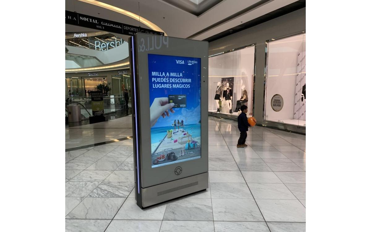 Mall-Betreiber Parque Arauco entscheidet sich für Telelogos Media4Display zur Verwaltung seiner digitalen Totems (Foto: Telelogos)