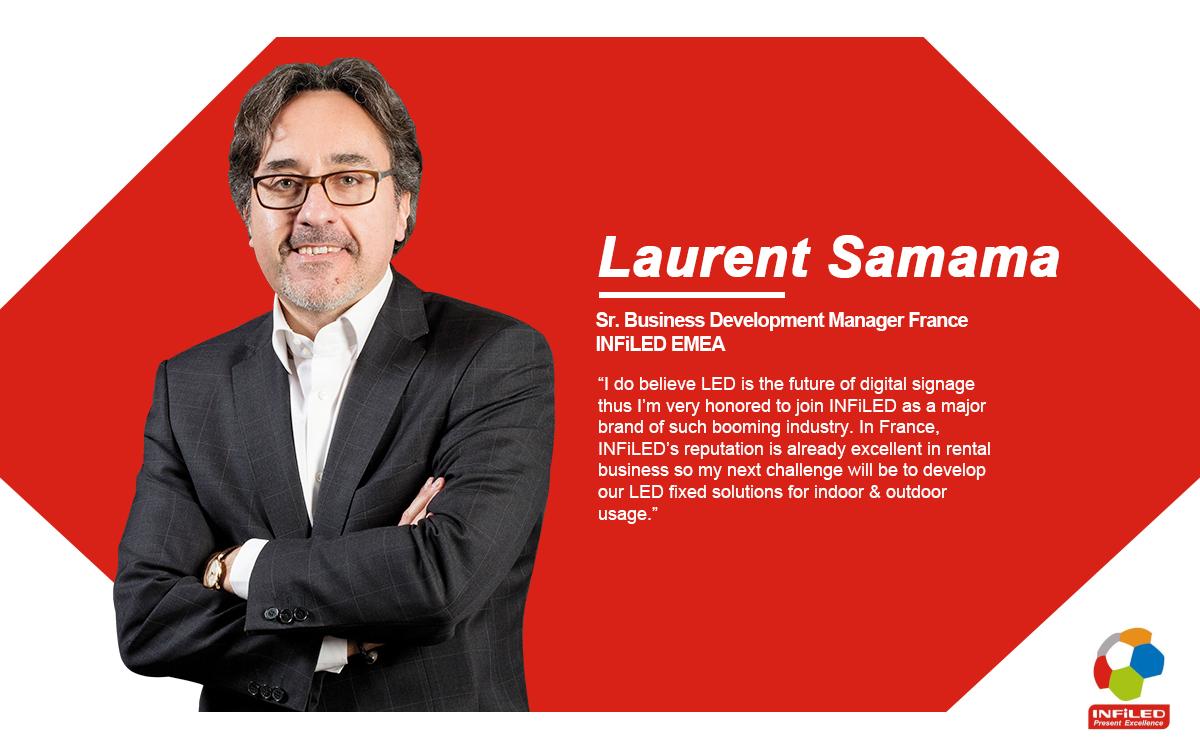 INFiLED ernennt Laurent Samama zum Sr. Business Development Manager für Frankreich, die Schweiz (französischer Teil) und Nordafrika (Foto: INFiLED)