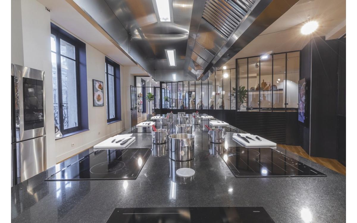 Das neue Samsung Kochstudio im Pariser Kaufhaus Lafayette (Foto: Samsung)