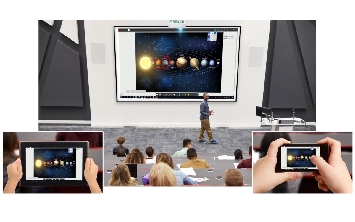 """myViewBoard lässt sich nach dem """"Bring Your Own Device""""-Prinzip auf quasi jedem Endgerät für digitalen Unterricht nutzen (Foto: ViewSonic)"""