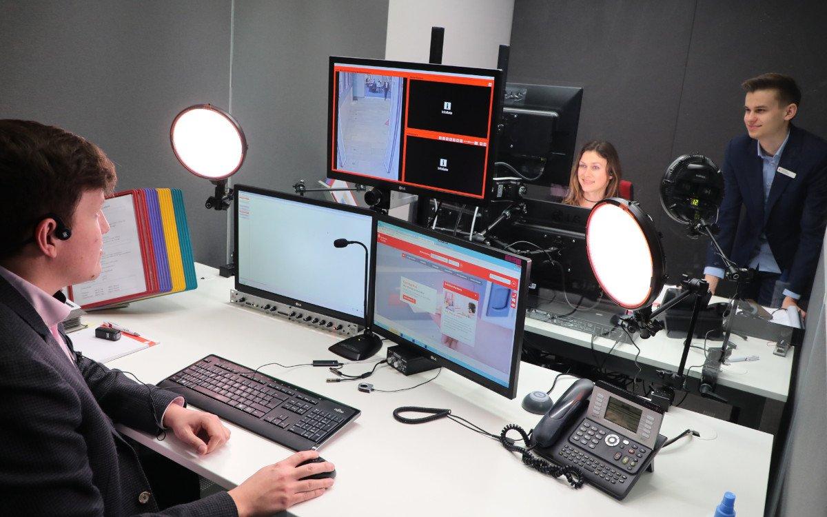 Video-Studio der Sparkasse Freising (Foto: Infogate/FMG)