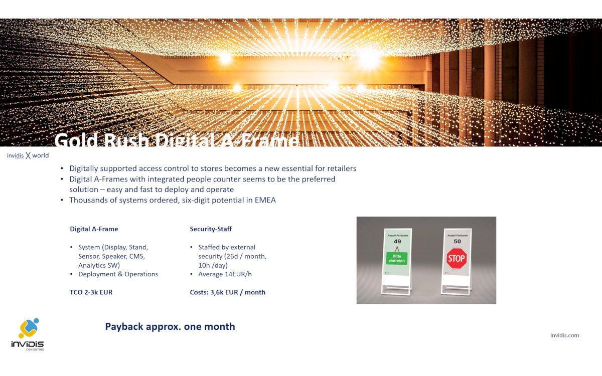 Goldrausch Digitaler Kundenstopper (Foto: invidis)