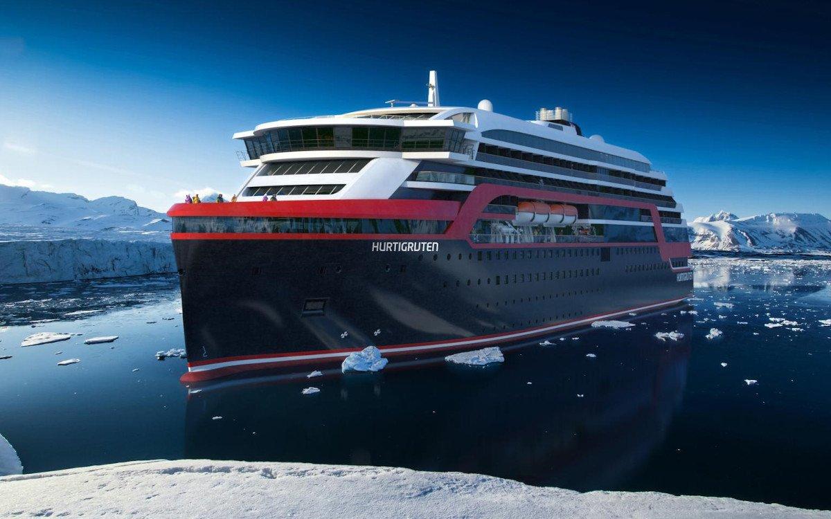 Neuste Generation der Hurtigruten-Kreuzfahrtschiffe (Foto: Hurtigruten)