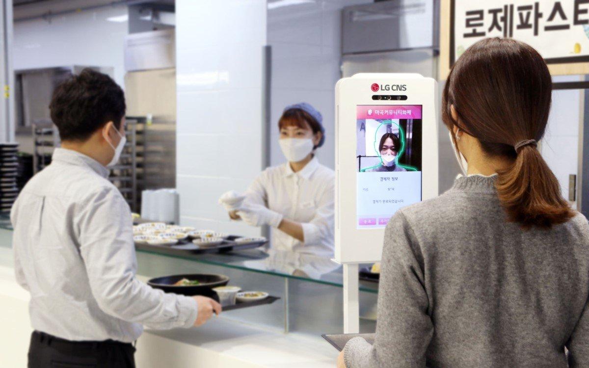 LG CNS testet ein völlig kontaktloses Zahlungssystem mit Gesichtserkennung in seiner eigenen Cafeteria im Hauptsitz in Seoul (Foto: LG CNS)