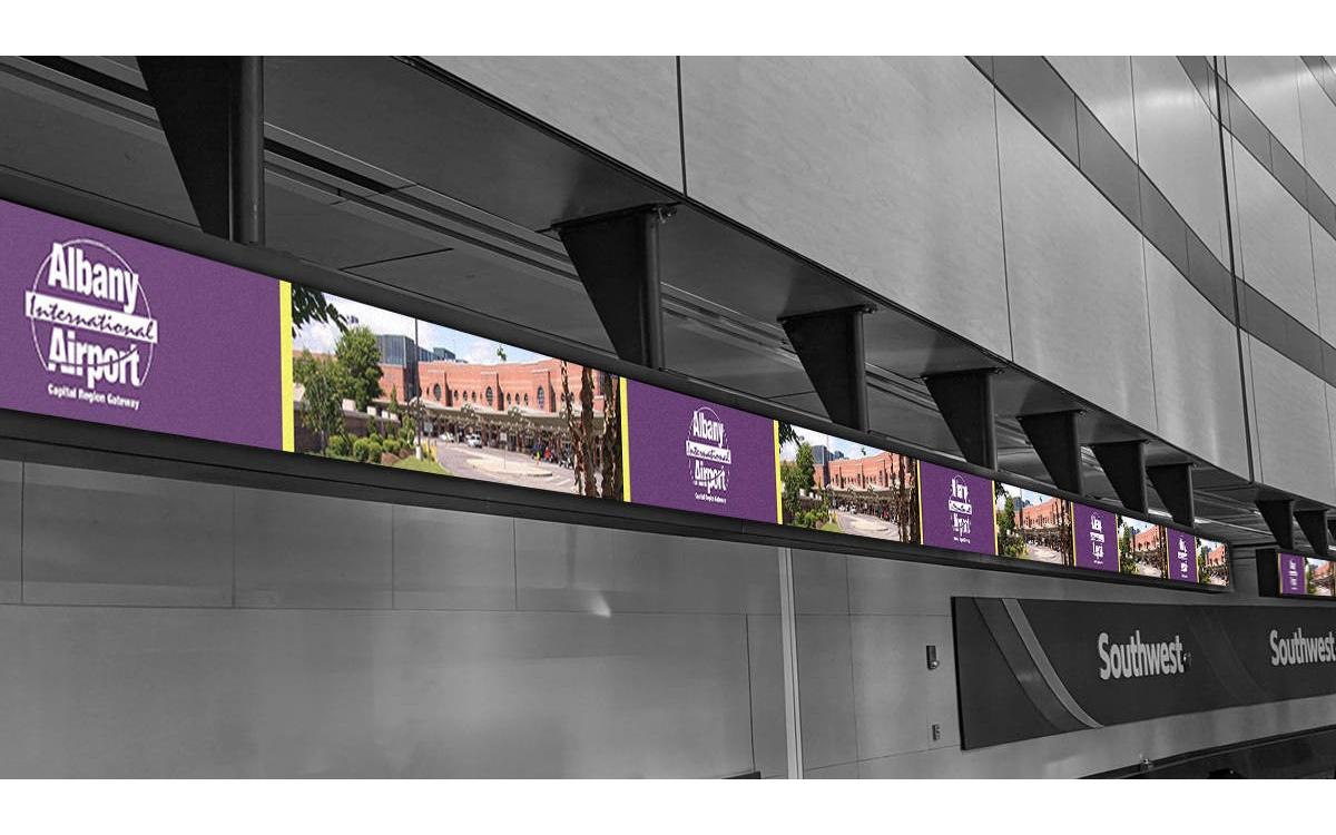 SNA Displays installierte 10 neue LED-Displays am Albany International Airport in New York für einen moderneren Look (Foto: SNA Display)