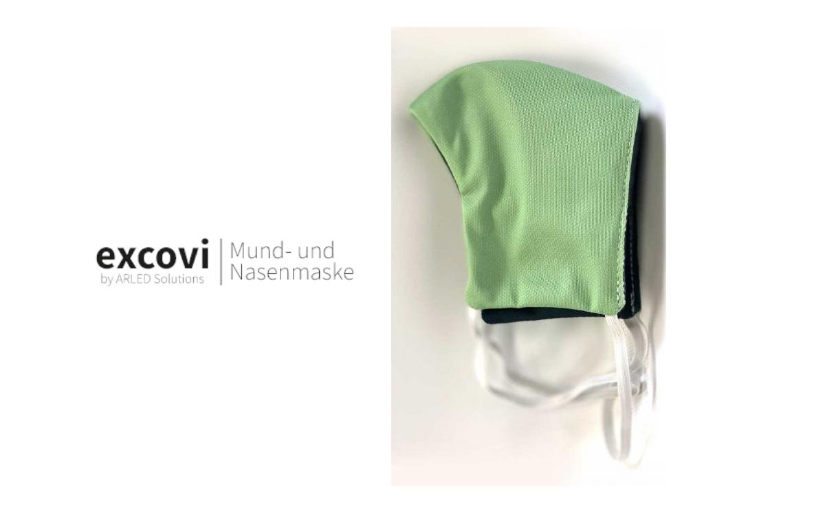 Digital Signage-Anbieter ARLED produziert derzeit die Maske 'excovi' zusammen mit lokalen Schneidereien (Foto: ARLED Solutions)