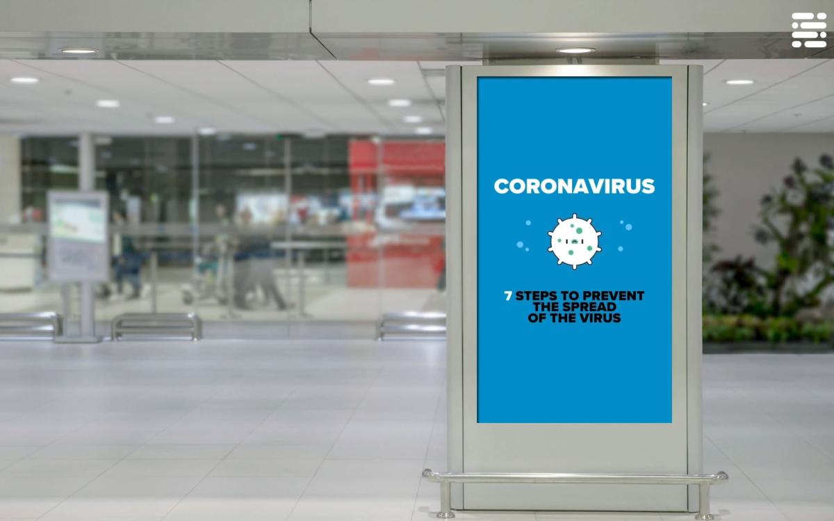 Der spanische Digital Signage-Softwareentwickler Netipbox stellt nutzern seiner Plattform Corona-Infos und Grafiken mit offiziellen Mitteilungen kostenlos zur Verfügung (Foto: Netipbox)
