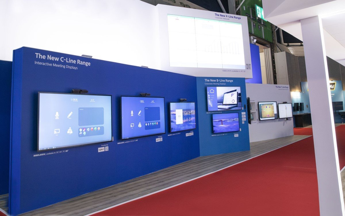 Philips Professional Display Solutions auf der ISE 2020 in Amsterdam (Foto: Philips)