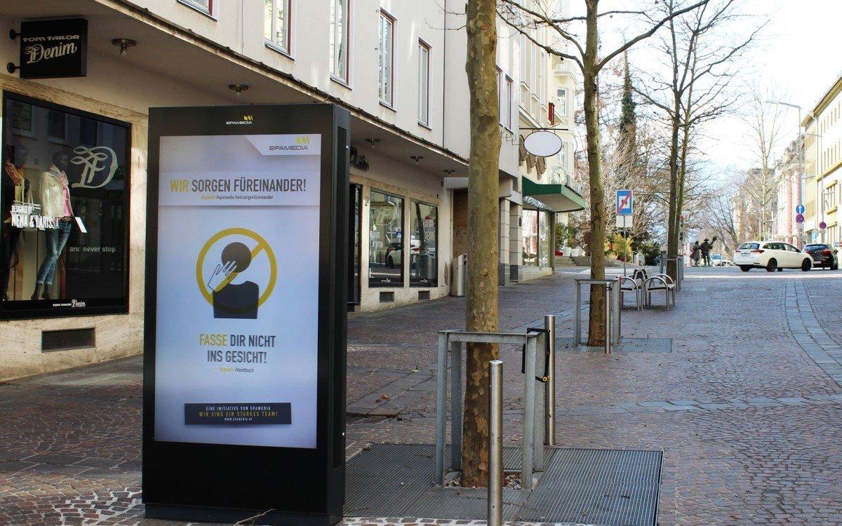 Epamedia Corona-Infokampagne in Österreich (Foto: Epamedia)