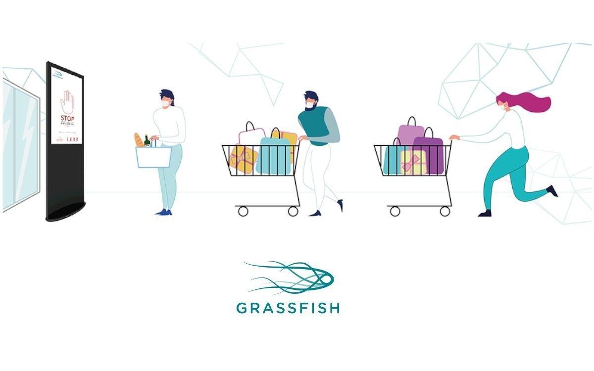 Grassfish erweitert sein Content Management System mit der CCC (Customer.Count.Control), um Kundenströme in Supermärkten organisieren zu können (Foto: Grassfish)