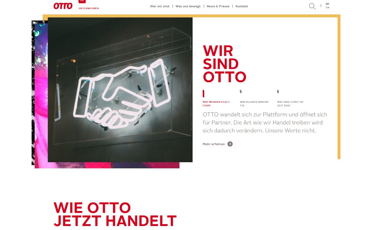 Konkurrenz für Amazon: Deutschlands größter Online-Händler otto.de wird zum Marktplatz (Foto: Screenshot)