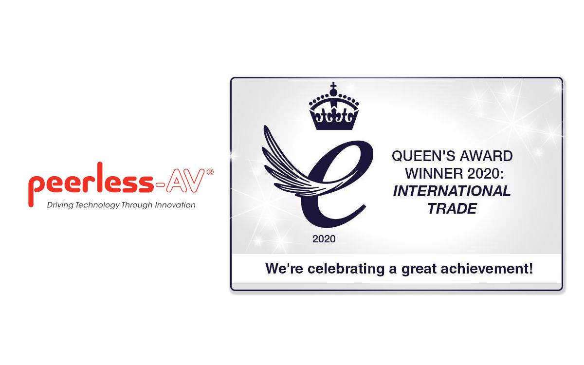 Peerless-AV erhält den prestigeträchtigen britischen Unternehmenspreis für 'International Trade' (Foto: Peerless-AV)