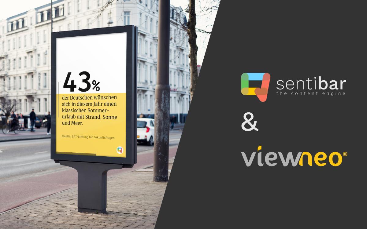 Das Content-managementsystem viewneo von Adversign Media unterstützt künftig auch die Umfrageergebnisse von Sentibar (Foto: Sentibar)
