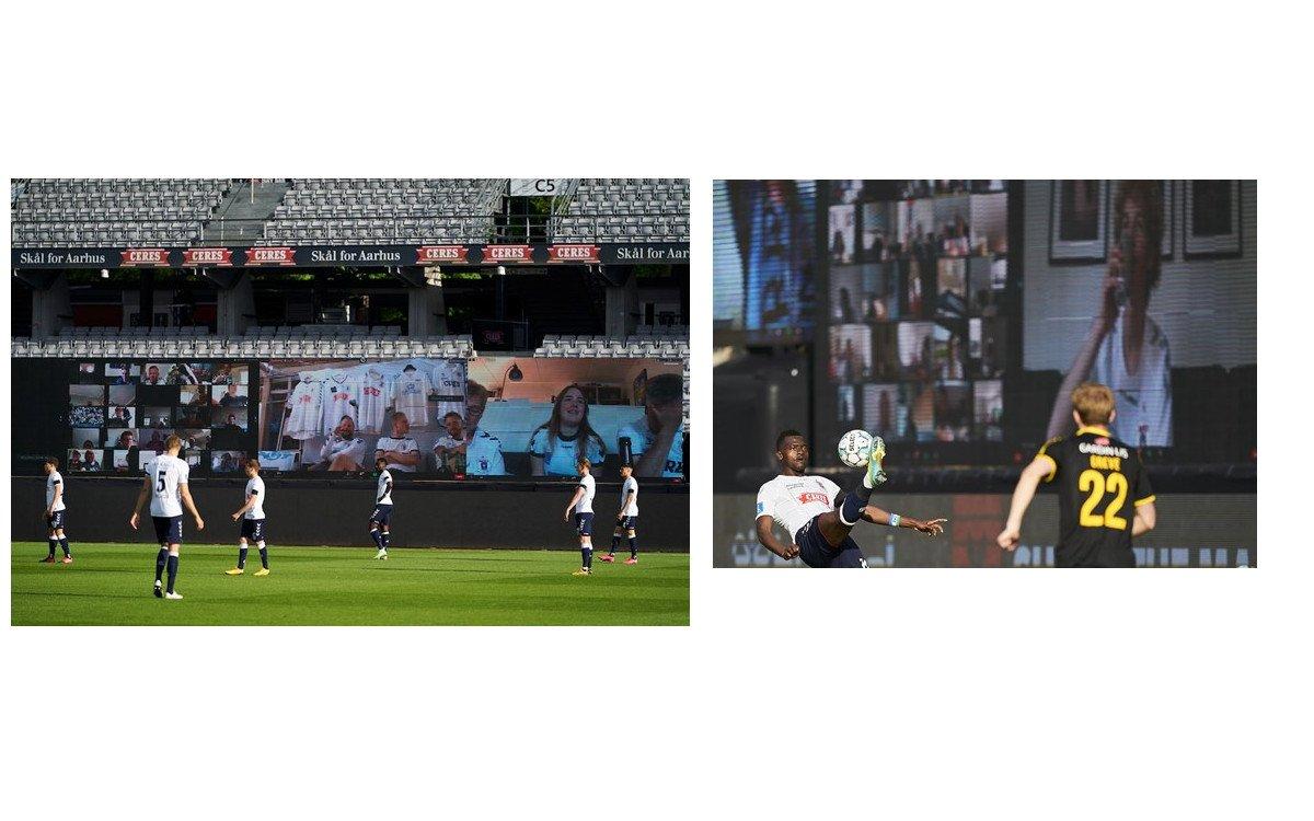 22 LED-Walls im Stadion von Aarhus (Fotos: Aarhus GF)
