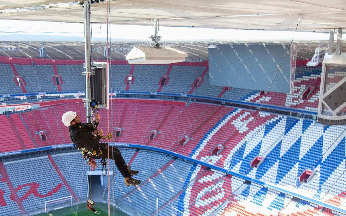 Mobilfunk der neusten Generation in der Allianz Arena des FC Bayern München (Foto: Telekom)