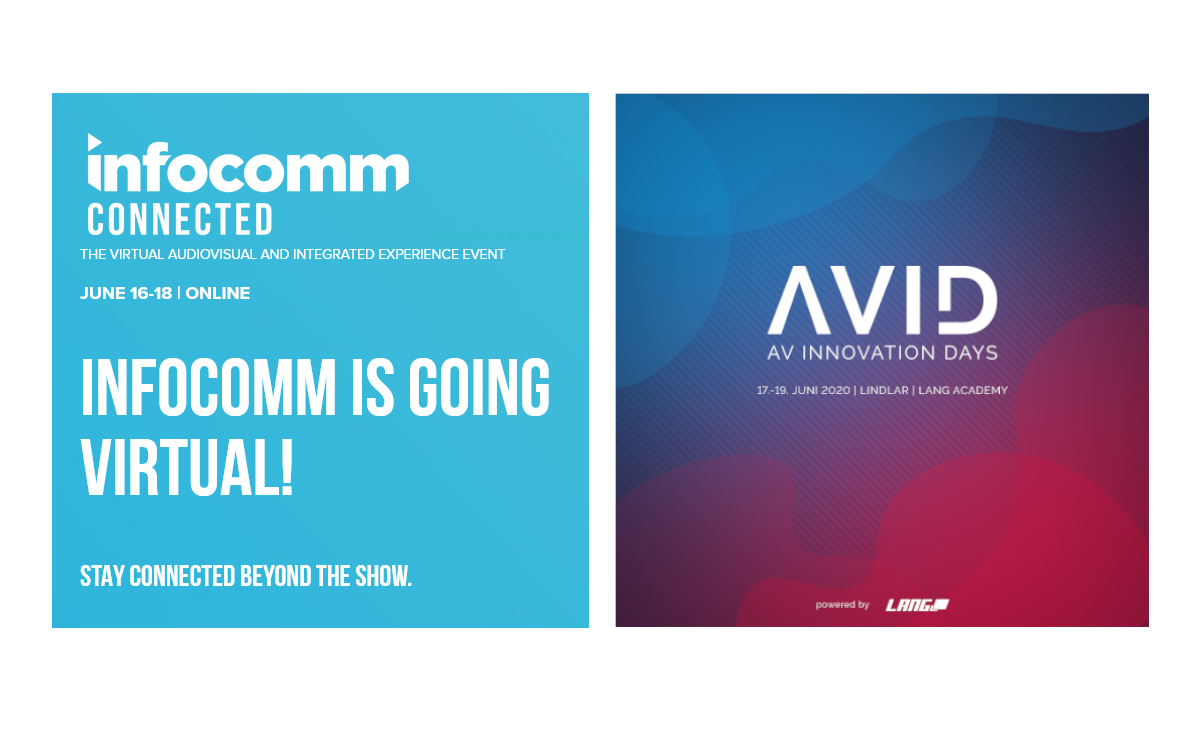 Die AV Innovation Days AVID sind teil der InfoComm Connected 2020 vom 16. bis 18. Juni (Foto: InfoComm/Lang AG)