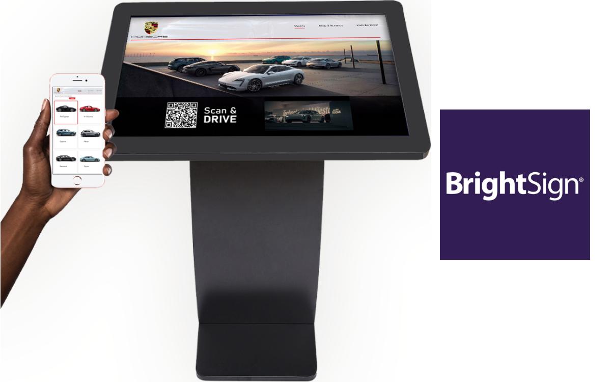 BrightLink überträgt Content von Touch-Displays nach Scannen des QR-Codes auf das Kunden-Smartphone (Foto: BrightSign)