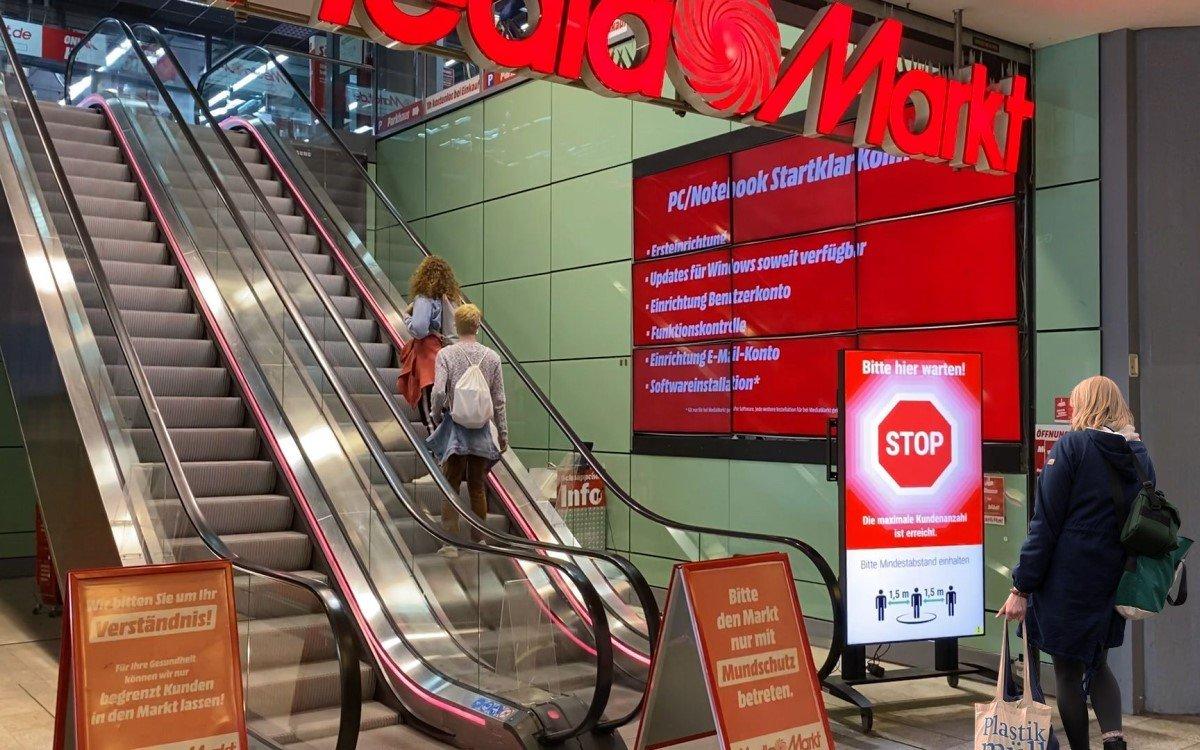Der Smart Entrance Manager von xplace steuert den Kundenzutritt in einem Einkaufszentrum und setzt auf Mini-PCs von Concept (Foto: xplace)