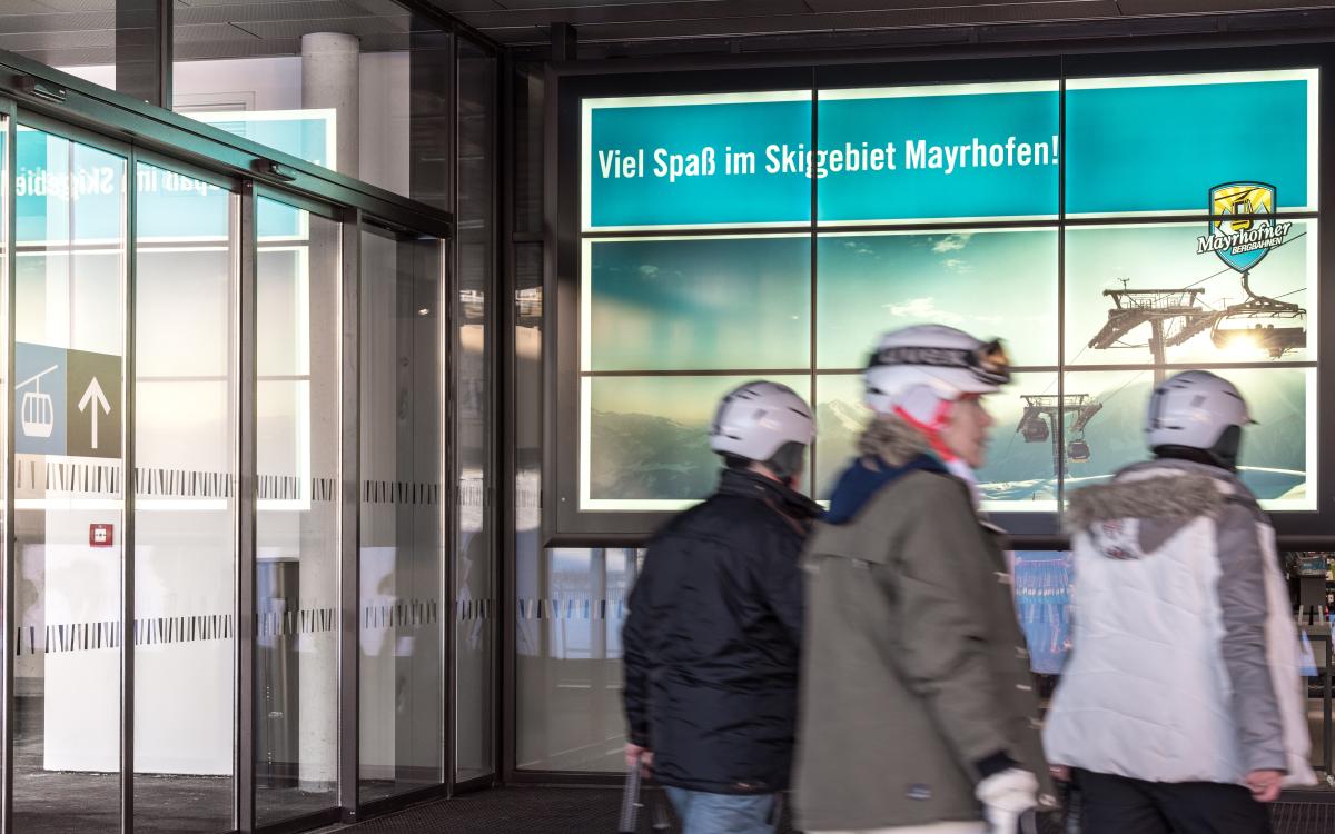 Digital Signage Panorama System von feratel in Mayrhofen (Foto: feratel)