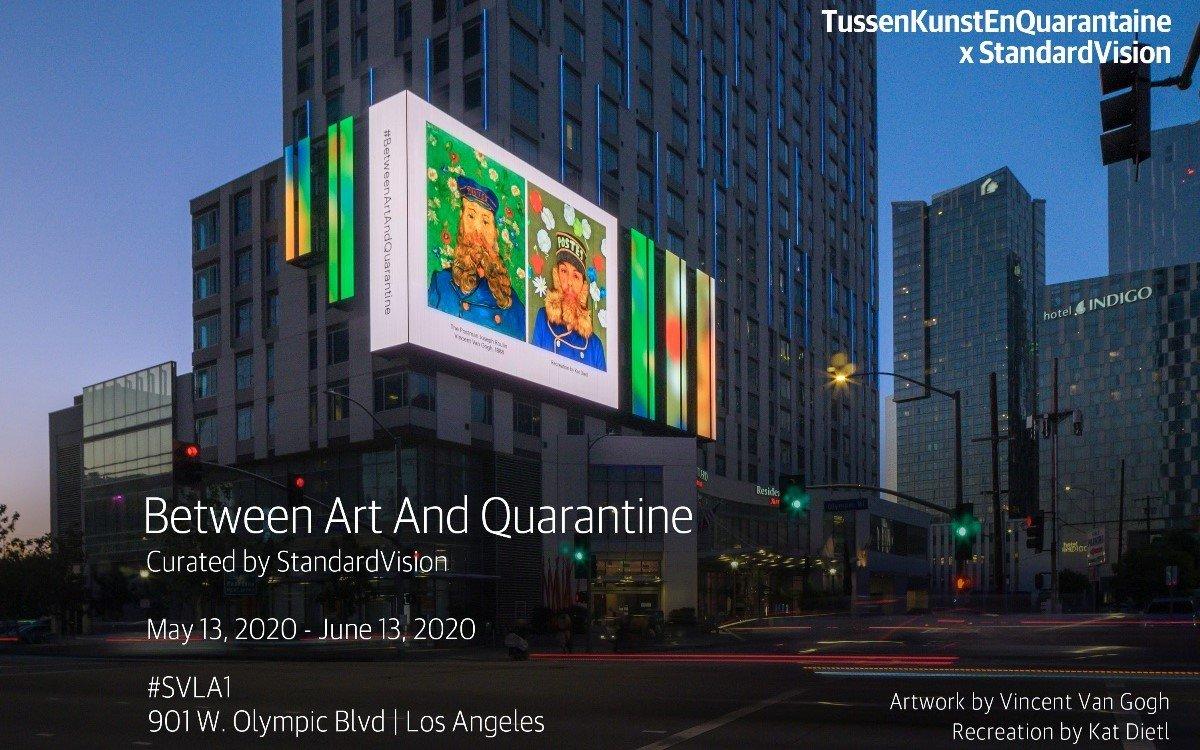 Das Projekt 'Zwischen Kunst und Quarantäne' auf der StandartVision LED-Wall in LA (Foto: StandartVision)