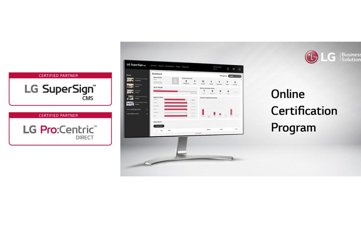 LG stellt ein neues Online Certification Program für Pro:Centric Direct und SuperSign CMS vor (Foto: LG Electronics)
