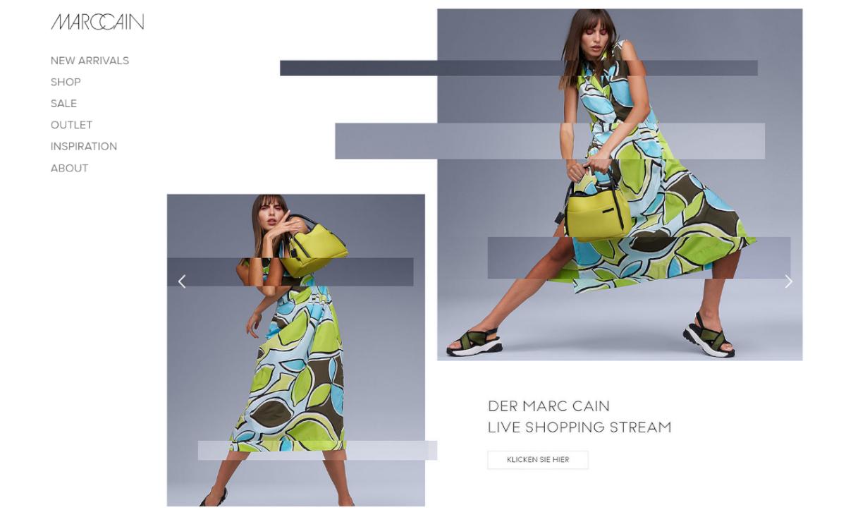 Modeunternehmen Marc Cain und Muse Content starten ein neues digitales Shoppingkonzept (Foto: Screenshot)