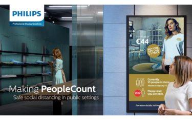 Philips Professional Display Solutions präsentiert brandneue Signage-Lösungen für das Warteschlangenmanagement und Personenzählungen (Foto: Philips PDS)