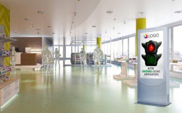 Customer-Count-Systeme wie der Peoplecounter von Kapsch BusinessCom steuern die Besucherzahlen in Apotheken und setzen auf Mini-PCs von Concept (Foto: Kapsch BusinessCom)