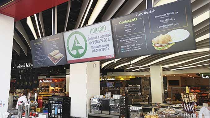 Smarte Signage und Design im Spar Market Puerto Rico (Foto: DJ3 Networks)