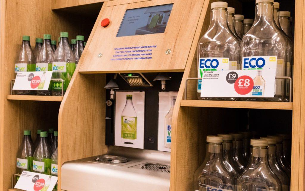 umdasch Liquid Dispenser für ECOVER bei Sainsbury's in UK (Foto: umdasch)