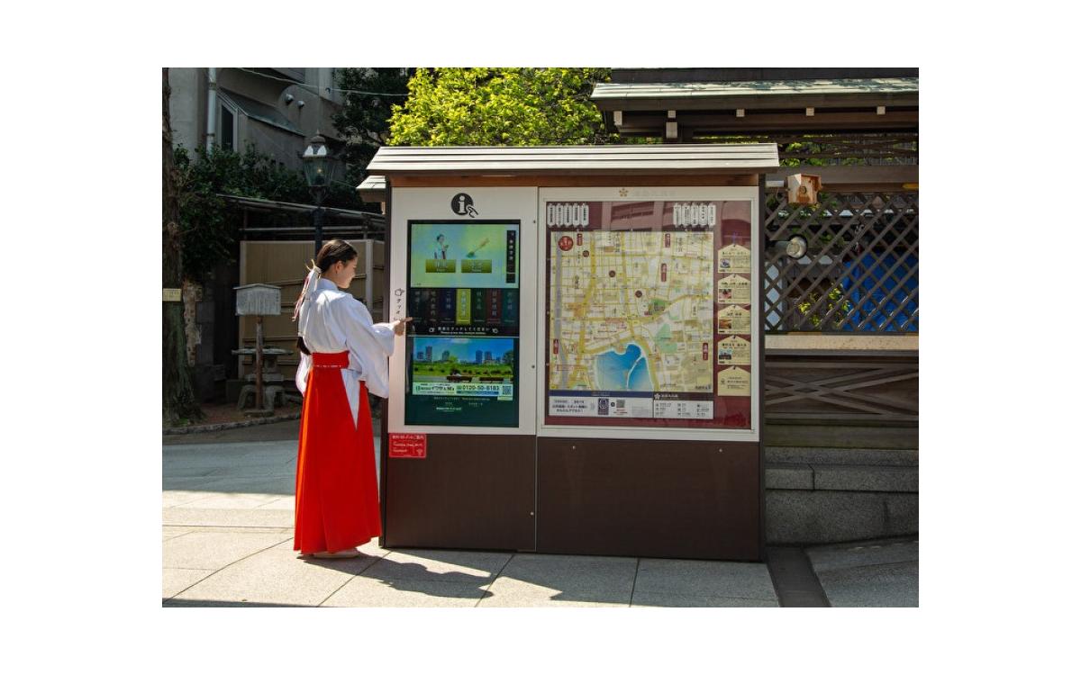Moderne Touch-Displays erklären Touristen in Japan den korrekten Besuch eines Shintō-Schreins (Foto: Zytronic)
