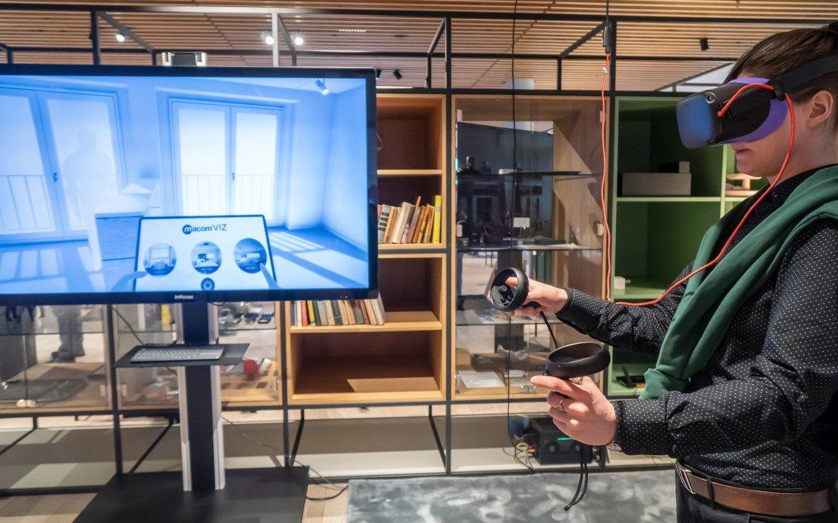 Mit Virtual Reality lassen sich Räume, Flächen und Eventkonzepte bereits in frühen Konzeptions- und Planungsphasen visualisieren (Foto: macom)