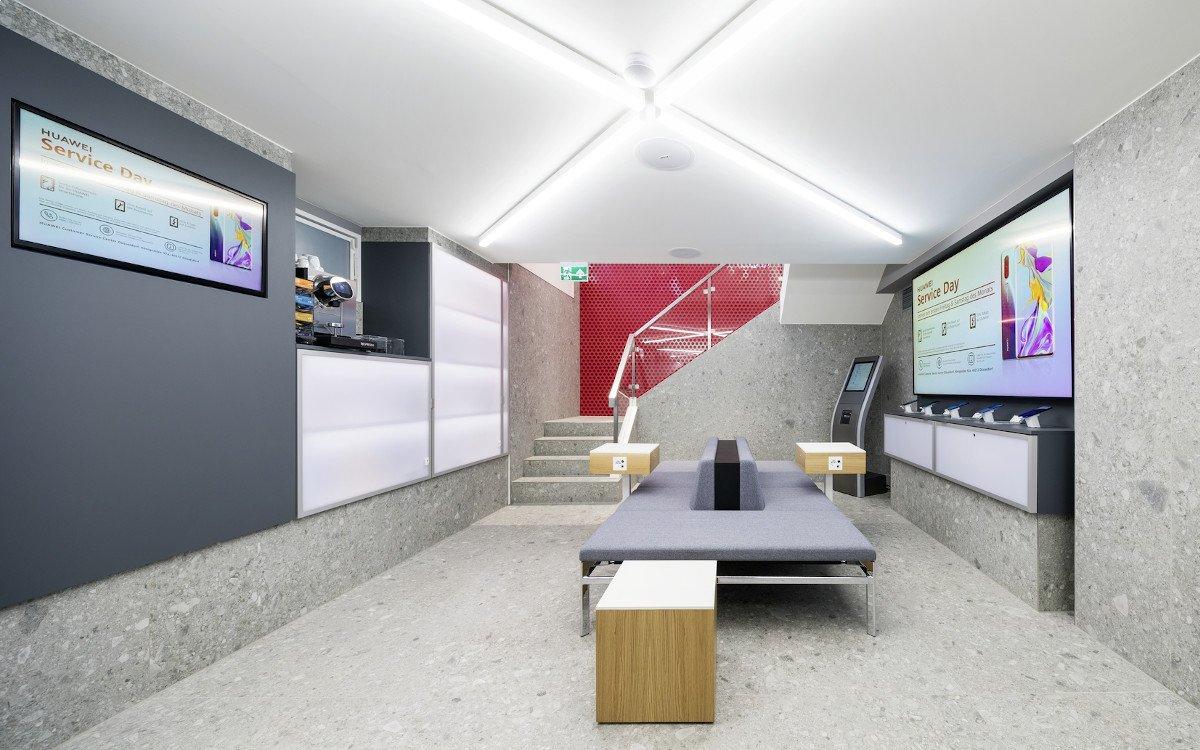 Huawei Customer Service Center in Düsseldorf (Foto: Umdasch)