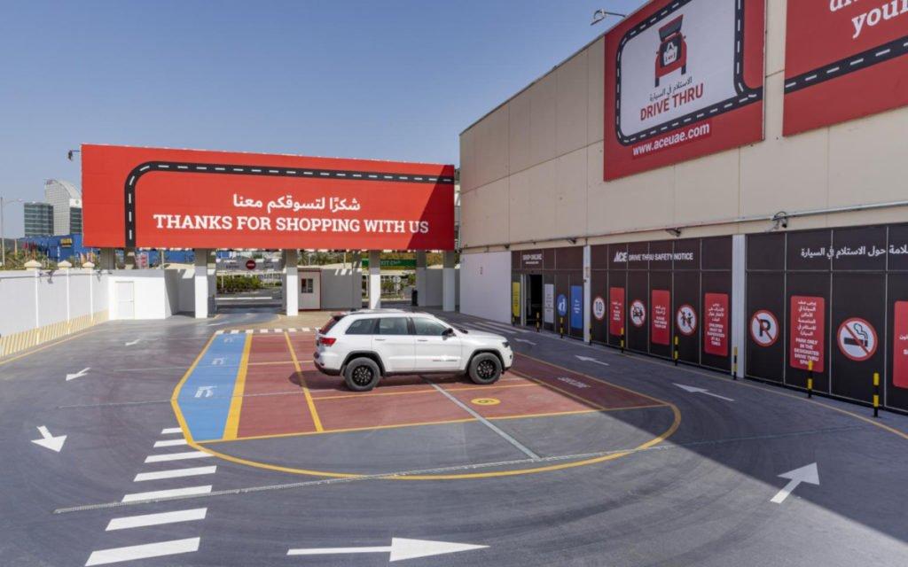Drive Thru ACE Baumarkt in Dubai (Foto: Al Futtaim)