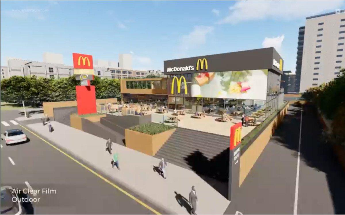 McDonalds Restaurant der Zukunft Vision (Foto: Screenshot Impactrum)